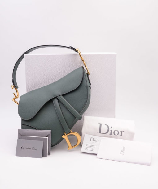 Dior - Sac Saddle Bleu orage 2019 Seconde Main