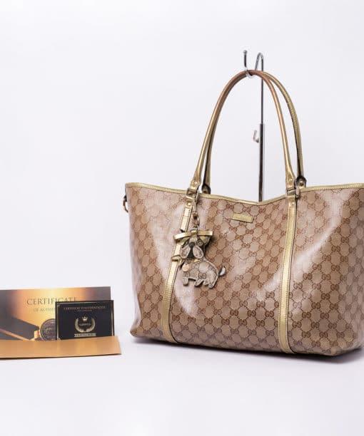 Sac cabas Gucci monogram dorée
