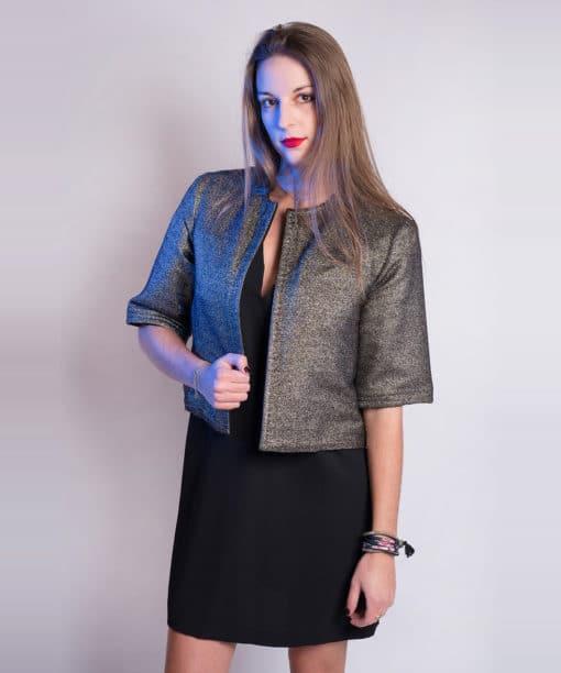 Veste Chanel métallisée