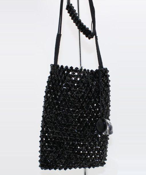 Pochette de jour et soirée Giorgio Armani en pierres noires occasion