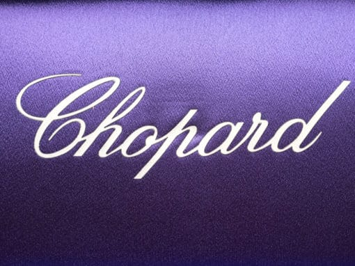 Sac de soirée Chopard en satin lillas occassion