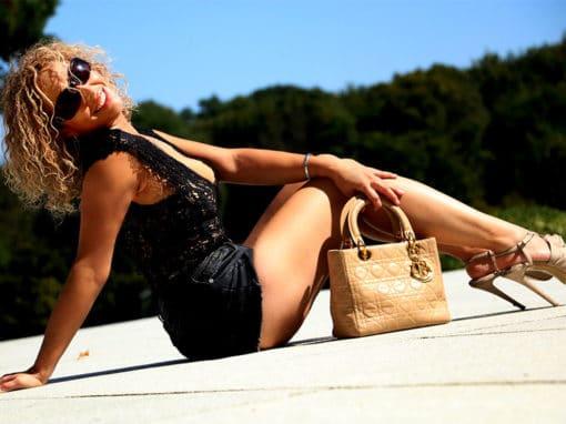 Sac à main Christian Dior Lady Dior beige occasion