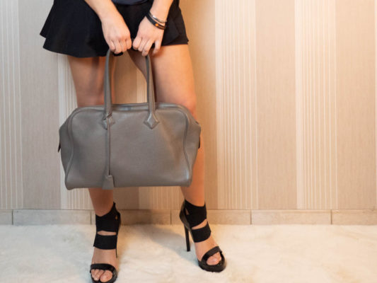Sac Hermès Victoria fourre-tout 35 couleur étoupe