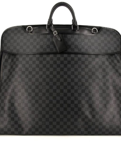 Porte-habits Louis Vuitton 2 cintres en toile damier graphite