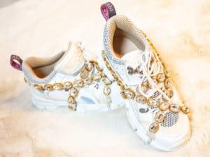 Baskets Gucci Flashtrek authentiques d'occasion modèle flashtrek couleur blanc