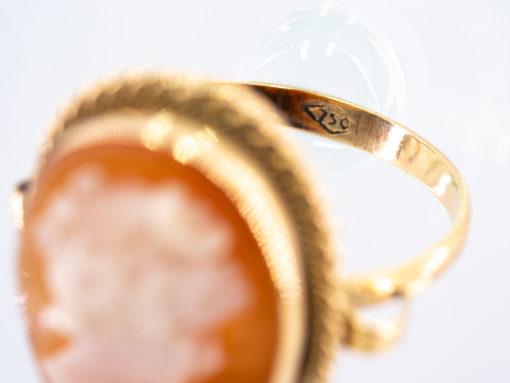 Bague en or 18k Camée