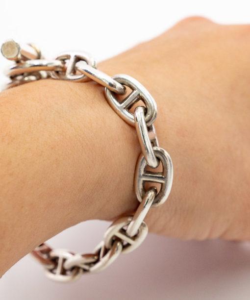 Bracelet Hermès Chaîne d'Ancre - Argent