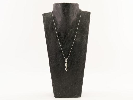 Collier or et diamant femme - Or blanc 18k
