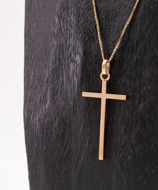 Pendentif Croix Chrétienne en Or rose 18k