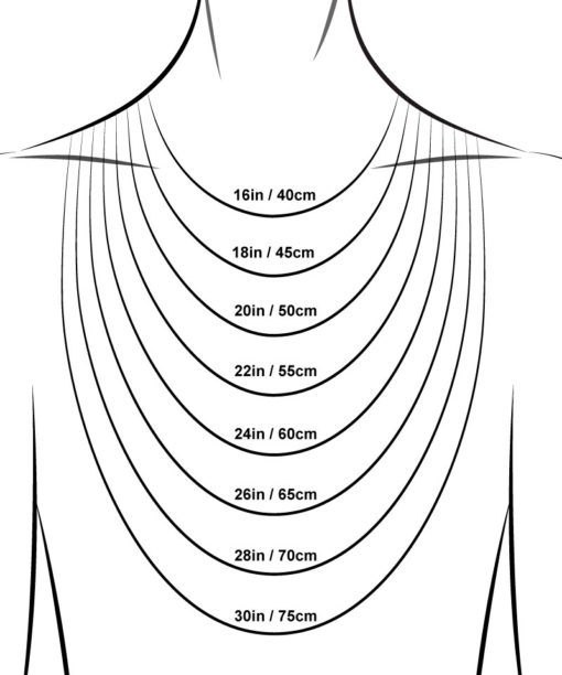Guide taille collier chaines or