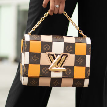 Louis Vuitton Twist MM Damier Check M55426