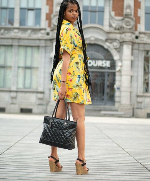 Sac Chanel Cabas cuir noir