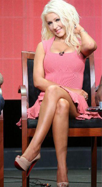 Escarpins Christian Louboutin Lady Peep - Christina Aguilera