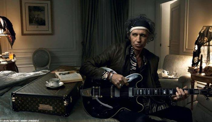 Maison Louis Vuitton x rockstar Keith Richards