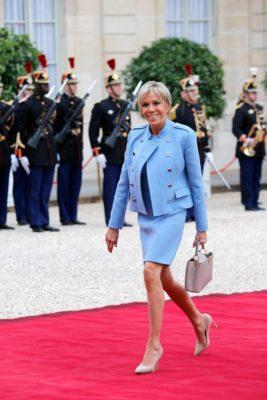 Maison Louis Vuitton tapis rouge Brigitte Macron
