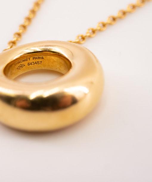 Collier Chaumet Anneau en or jaune massif de 18k