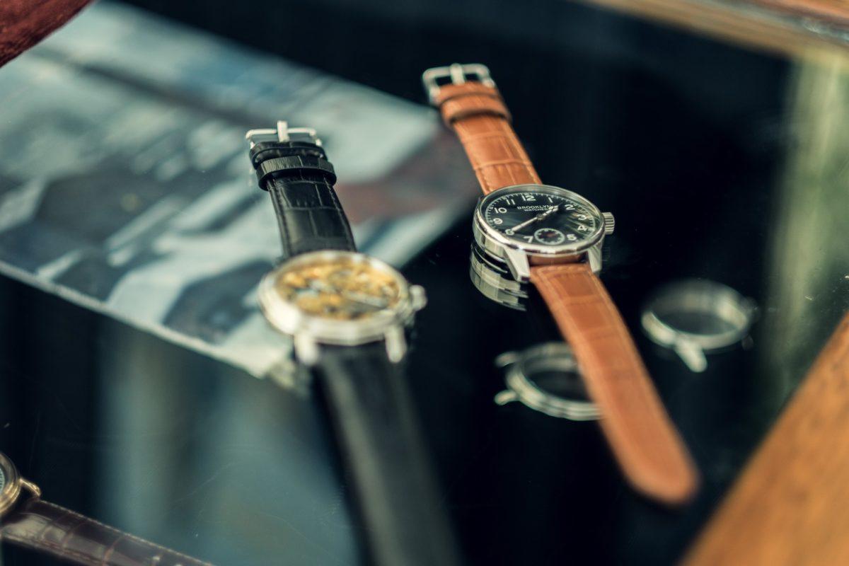 Montres de luxe avec bracelets en cuir
