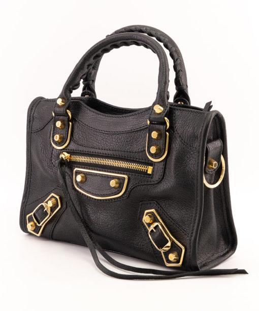 Sac Balenciaga Classic City Nano cuir noir