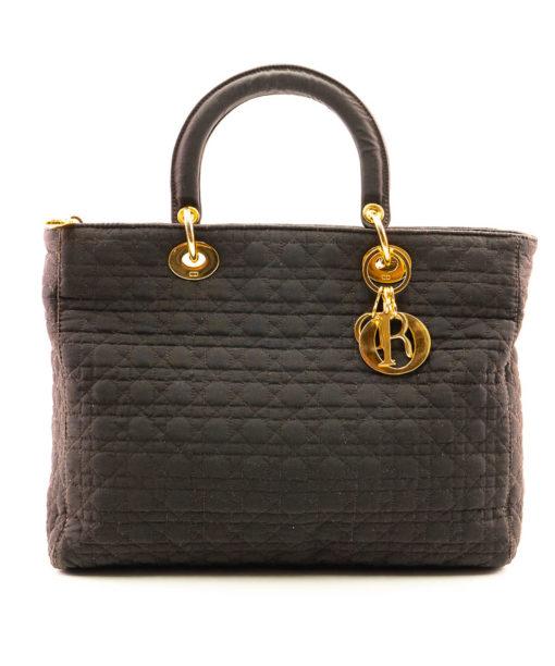 Sac Dior Lady Dior GM toile cannage marron