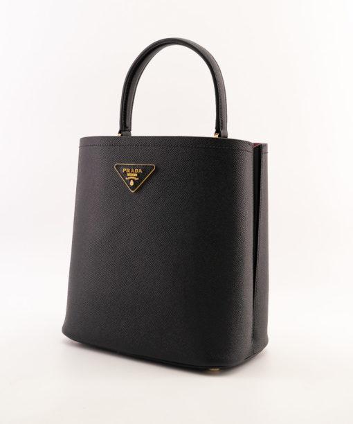 Sac Prada Double compact en cuir Saffiano - Prada Panier - Bucket