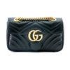 Sac Gucci GG Marmont Mini cuir noir