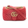 Sac Gucci GG Marmont Mini cuir rouge
