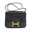 Hermes Constance Vintage Lezard Noir